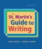 The St. Martin's Guide to Writing 11th Edition