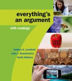 Everything's an Argument with Readings 7th Edition