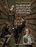 The Bedford Anthology of American Literature, Volume One 2nd Edition