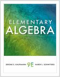 Elementary Algebra 9th Edition