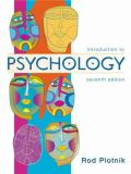 Introduction to Psychology 9780534589349