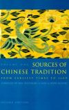 Sources of Chinese Tradition 2nd Edition