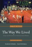 The Way We Lived 9780840029515