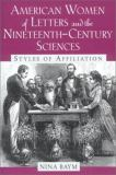 American Women of Letters and the Nineteenth-Century Sciences 9780813529844