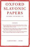 Oxford Slavonic Papers 1999 9780198159902