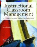 Instructional Classroom Management 9780130139931