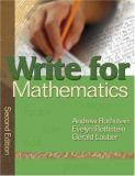 Write for Mathematics 9781412939942